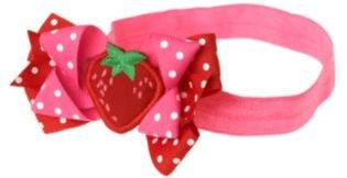 Crazy 8 Strawberry Bow Headband