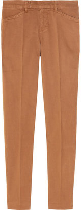 J Brand Denim Cropped mid-rise stretch-cotton pants