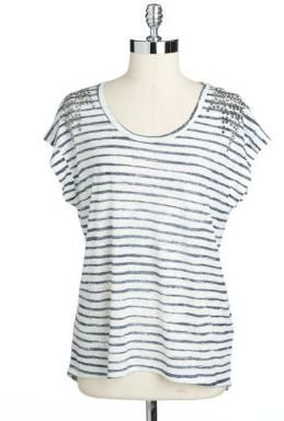 Vince Camuto TWO BY Spangled Boxy Hi-Lo Top