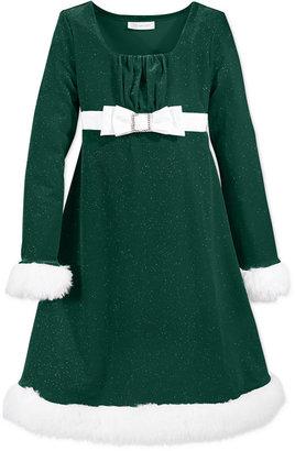 Bonnie Jean Girls Dress, Little Girls Santa Dress