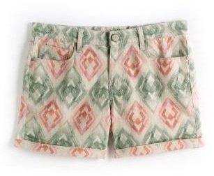 DKNY Printed Roll-Cuffed Denim Shorts