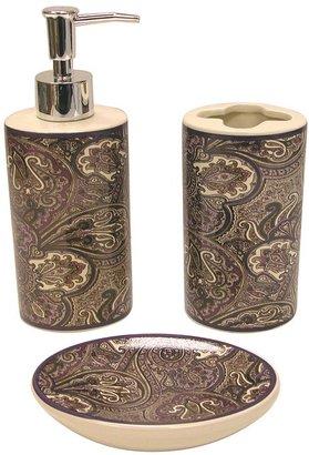 Waverly paddock shawl 3-pc. bath accessory set