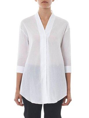 Helmut Lang V-neck ribbed-cotton shirt