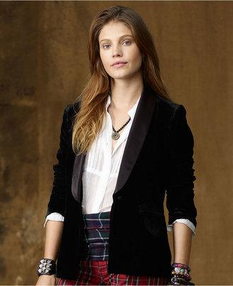 Denim & Supply Ralph Lauren Jacket, Velvet Tuxedo Blazer