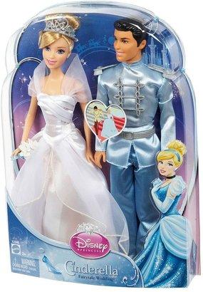 Disney princess cinderella fairytale wedding doll set by mattel