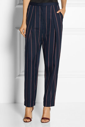 By Malene Birger Sega pinstriped twill tapered pants