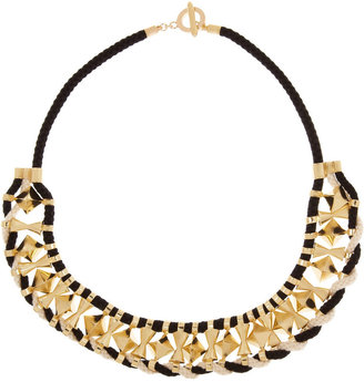 Noir Gold-plated rope necklace