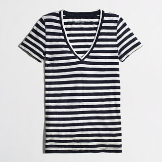 J.Crew Factory Factory layering V-neck tee in stripe