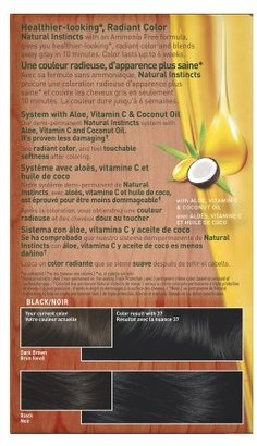 Clairol Natural Instincts Rich Color Creme Rich Black 37