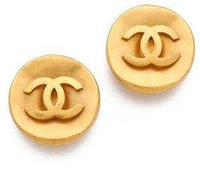 WGACA Vintage Chanel CC Circles Earrings