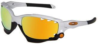 Oakley Racing Jacket Polarized (Silver w/Fire Iridium Polarized &Persimmon) - Eyewear