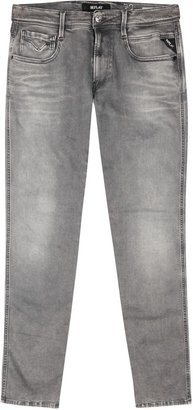 Replay Anbass Hyperflex Grey Slim-leg Jeans