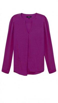 Tibi Silk Long Sleeve Blouse