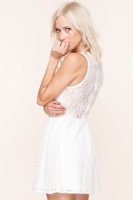 Lulu For Love & Lemons Dress in White Floral Lace