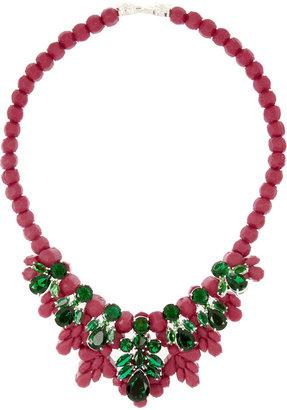 Ek Thongprasert Silicone and cubic zirconia necklace