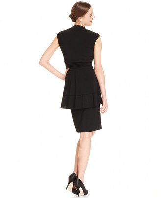 R & M Richards R&M Richards Dress, Cap-Sleeve Peplum