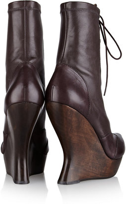 McQ by Alexander McQueen Victoria leather wedge boots