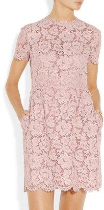 Valentino Cotton-blend lace mini dress