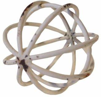 VIP Home & Garden Decorative Metal Ball White (4