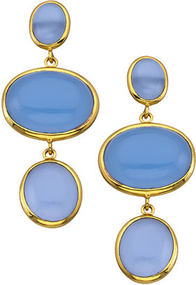 Amalia Julie Vos Gold And Chalcedony Drop Earrings