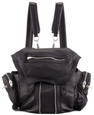Alexander Wang Marti Washed Lambskin Backpack, Black/Nickel $950 thestylecure.com