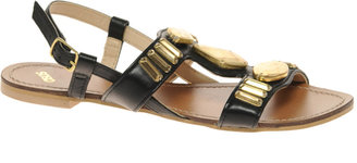 Asos FLIX Leather Flat Sandals with Deco Stones