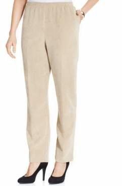 Alfred Dunner Petite Classics Corduroy Straight-Leg Pants