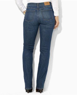 Lauren Ralph Lauren Plus Size Straight-Leg Jeans, Harbor Wash