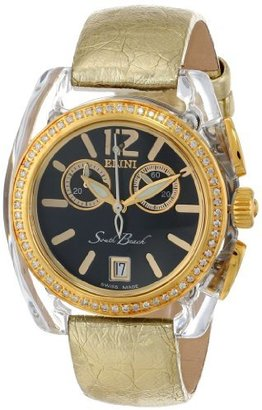 South Beach Elini Barokas Women's BK2616GLDGLD Analog Swiss-Quartz Gold Watch