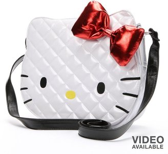 Hello Kitty patent quilted face messenger bag