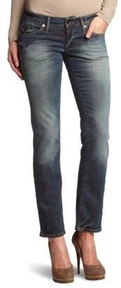 G Star G-Star Women's Midge Straight Comfort Charge Jean in Dark Aged