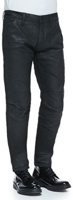 G-Star Black-Coated 5620 Tapered Jeans $190 thestylecure.com