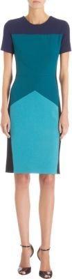 Narciso Rodriguez Short Sleeve Colorblock Dress