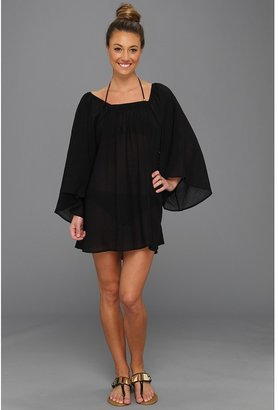Magicsuit Solid Convertible Neck Cover-Up Tunic (Black) - Apparel