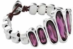 Uno de 50 Swarovski Crystal and Silver Bracelet