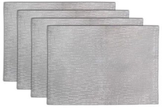 Mikasa Set of 4 Silver Placemats