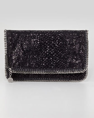 Stella McCartney Falabella Sequin Fold-Over Clutch Bag