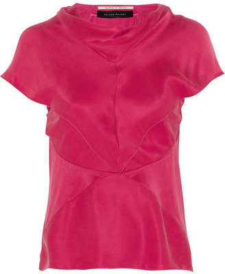 Roland Mouret Groby washed silk-satin top