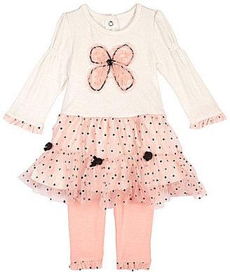Nannette Newborn Bow-Motif Dress & Leggings Set