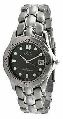 gino franco Men's 953-2 Round Stainless Steel Bracelet Watch