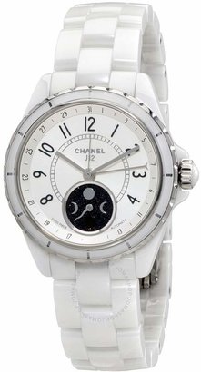 Chanel J12 Moon Phase Mother of Pearl Dial White Ceramic Ladies Watch