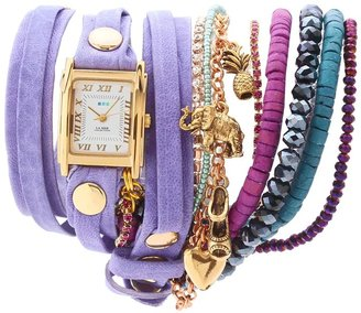 La Mer Copacabana Crystal Stones Wrap (Washed Violet/Gold) - Jewelry