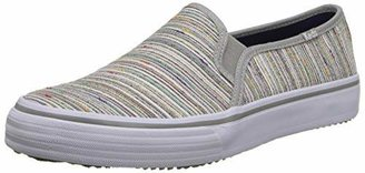 Keds Women's Double Decker Woven Rainbow Stripe Slip-On Sneaker