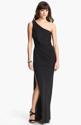 BCBGMAXAZRIA One Shoulder Jersey Gown
