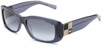 Lacoste Women's LA 12653 Acetate Sunglasses,Navy Frame/Black/Beige/Metal Silver Lens,one size