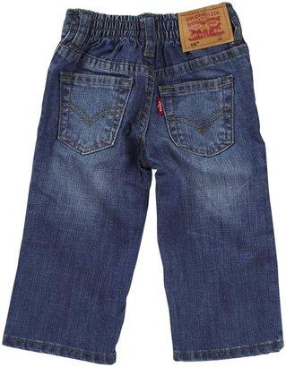 Levi's Regular Fit Jean w/ Elastic Back - Ocean Blue-12 Months