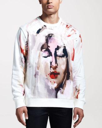 Givenchy Columbian Madonna-Print Sweatshirt