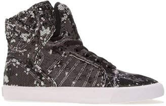 Supra skytop mixed sequined shoes