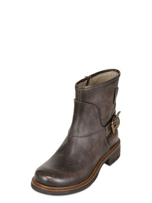 Momino Vintaged Leather Biker Boots