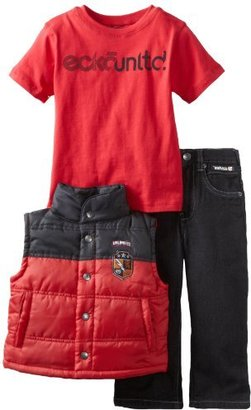 Ecko Unlimited Boys 2-7 Patched Up Vest Set